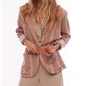 NWT Free People Simply Stripe Blazer